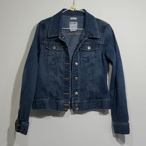 Old navy denim jacket sz M strech.